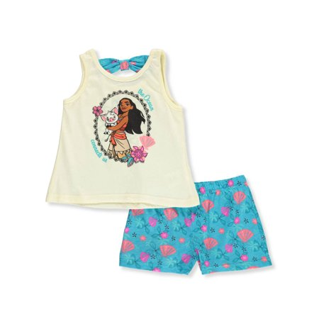 Disney Moana Girls' 2-Piece Shorts Set Outfit (Kids Disney Outfits)