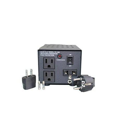 SEVENSTAR 300 Watt maximum Capacity Heavy-Duty Continuous Use Transformer Power Converter  (TC 300)