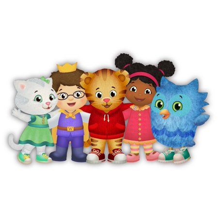 Daniel Tiger's Neighborhood and Friends Birthday Cake Topper Edible Frosting Image 1/4