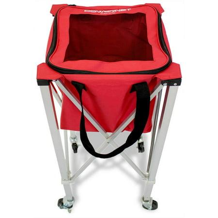 Baseball Ball Cart (PowerNet Wheeled Ball Caddy Cart for Baseball Softball and)