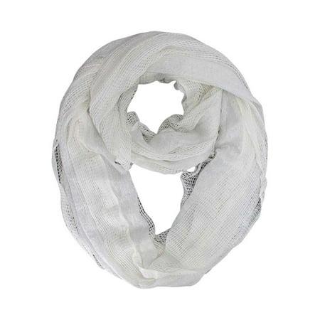 Open Weave Summer Knit Infinity Scarf