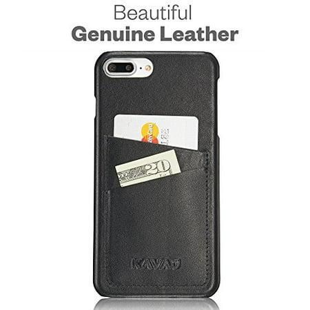 KAVAJ Coque iPhone 8 Plus iPhone 7 Plus Cuir Tokyo Noir Slim-Fit ...