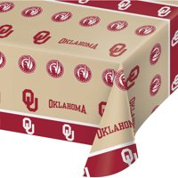 University of Oklahoma Plastic Tablecloth