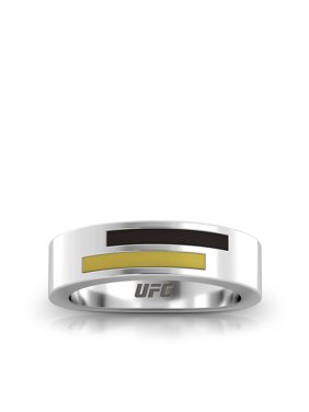 UFC - Asymmetric Enamel Ring in Black and Gold