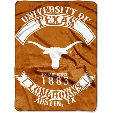 Texas Longhorns NCAA Rebel Series Raschel Plush 60x80 Twin Size Throw/Blanket