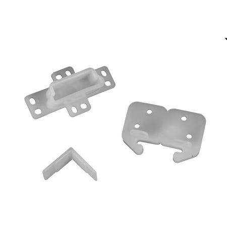 RV Designer H301 Drawer Repair Kit w/ Drawer Slide, Rear Socket and 2 Corner Slides