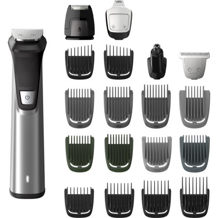 Philips Norelco Multigroom 7000, MG7750/49, 23 attachments for Beard, Head, Body, and Face - Oil-free grooming