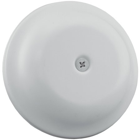 """5-1/4"""" White Finish High Impact Plastic Cleanout Cover Plates Bell Design,PartNo"""