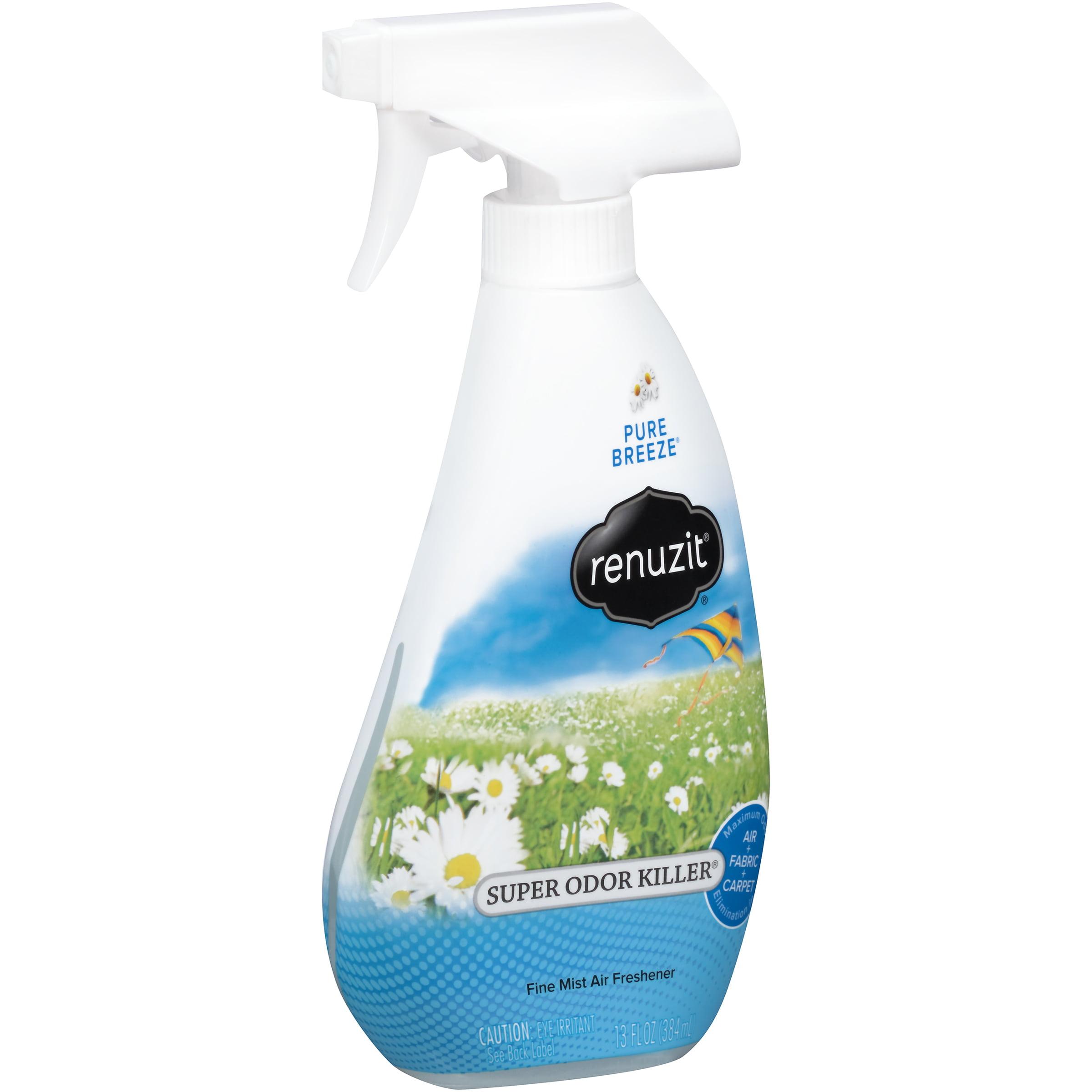 (3 Pack) Renuzit Super Odor Killer Pure Breeze Fine Mist Air Freshener, 13 fl oz