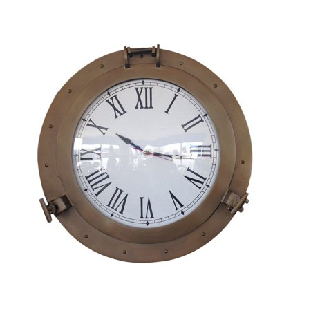 Antique Brass Decorative Ship Porthole Clock 24