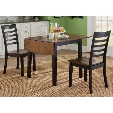Cafe Dining Set (Liberty Furniture Cafe 3 Piece Drop Leaf Dining Set in Black )