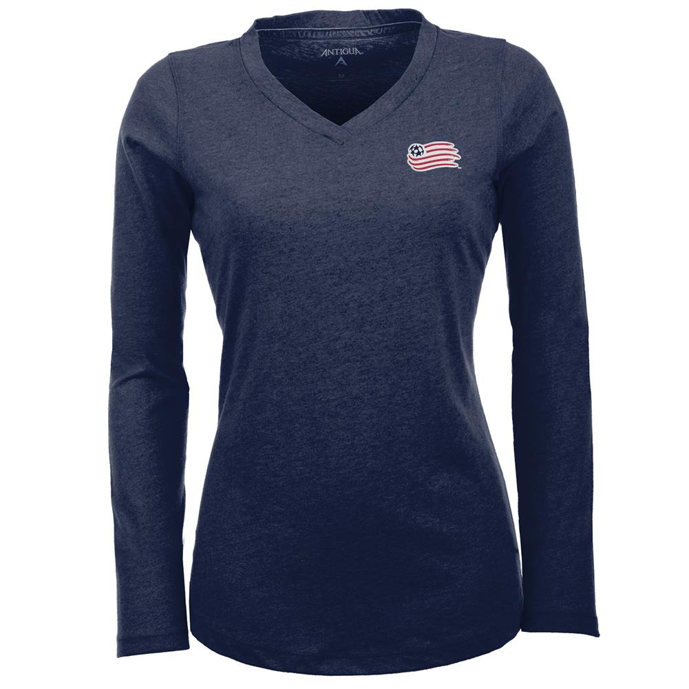 Women's New England Revolution Flip V-Neck Long Sleeve Tee
