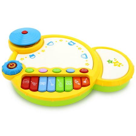 Kids Amazing Papa Drum Toddler Set Electronic Learning Developmental Toy for Boys Girls