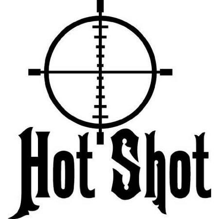 Hot Shot Aim Hunting Hunter Shooting Target Boys Bedroom   Peel   Stick Sticker   Vinyl Wall Decal   12X12 Inches