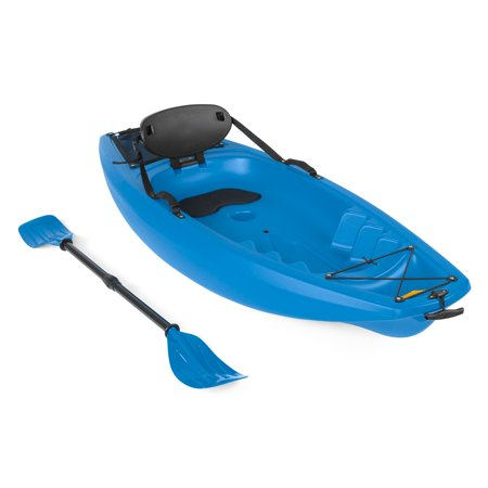 Best Choice Products 6ft Kids Kayak w/ Paddle, Cushioned Backrest, Side Handles, Storage Compartment, Wheel for River, Lake, Beach -