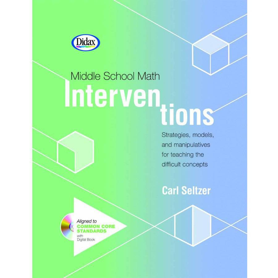 Didax Book Middle School Math Interventions, Grades 5 to 9