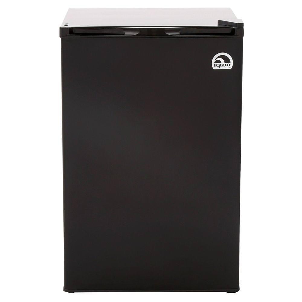 Igloo 4.5 cu ft Refrigerator and Freezer, Black
