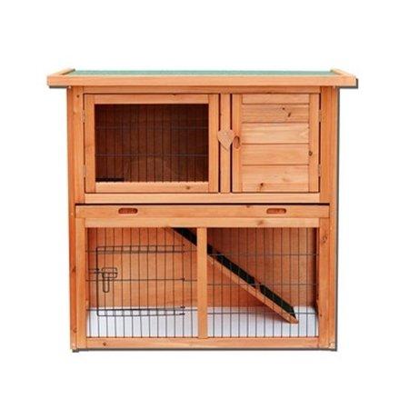 """Ktaxon 36"""" Waterproof Wooden Rabbit Hutch"""