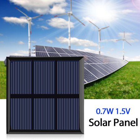 Qiilu 0 7w 1 5v Mini Portable Solar Panel Diy Power Module Charger For 1 2v Battery With Wire 70 70mm Solar Panel Diy Solar Panel