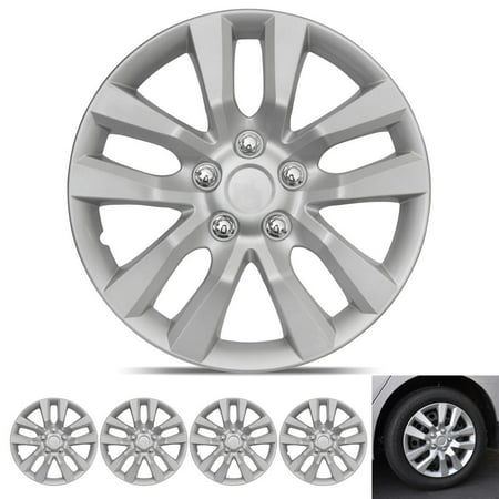BDK Hubcap Wheel Covers Nissan Altima Style - 16 Inch Silver Replica Cover, OEM Factory Replacement (4 Pieces) 1988 Nissan Sentra Wheel