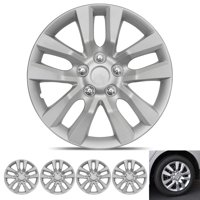 BDK Hubcap Wheel Covers Nissan Altima Style - 16 Inch Silver Replica Cover, OEM Factory Replacement (4 Pieces)