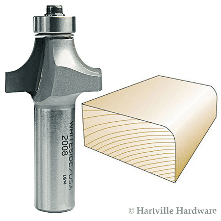 2008  Whiteside Carbide Tip  Roundover Router Bit 3/8R 1-1/4LD 5/8CL 1/2SH 2FL