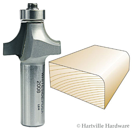 2008  Whiteside Carbide Tip  Roundover Router Bit 3/8R 1-1/4LD 5/8CL 1/2SH