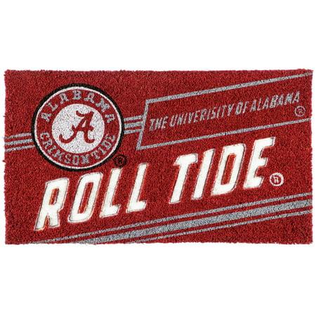 Alabama Crimson Tide 16'' x 28'' Coir Punch Mat - No Size Crimson Floor Mat