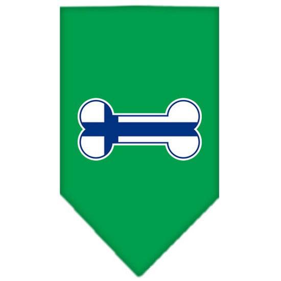 Bone Flag Finland  Screen Print Bandana Emerald Green Small