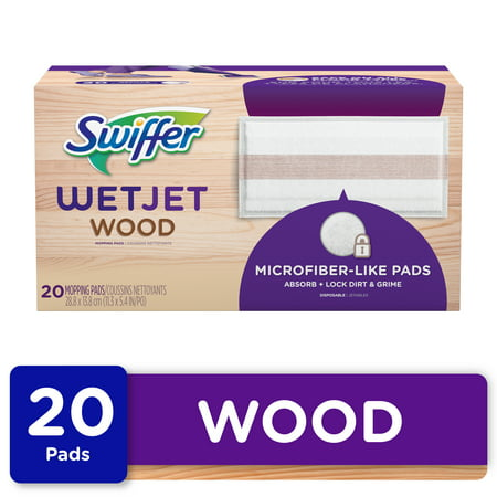 Swiffer WetJet Wood Mop Pad Refills, 20 Ct