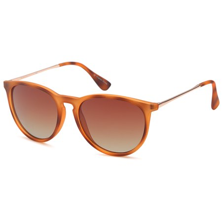 321929ee717c8 Gamma Ray Optics - GAMMA RAY Polarized UV400 Vintage Retro Round Thin Style  Sunglasses - Gradient Brown Lens on Matte Tortoise Frames - Walmart.com