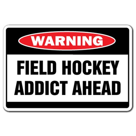 Field Hockey Addict [3 Pack] of Vinyl Decal Stickers   Indoor/Outdoor   Funny decoration for Laptop, Car, Garage , Bedroom, Offices   SignMission