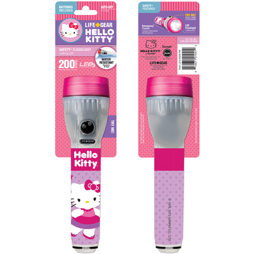 Life Gear Hello Kitty Mini Glow Flashlight, Pink