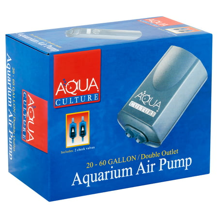 Aqua Culture 20-60-Gallon Double Outlet Aquarium Air