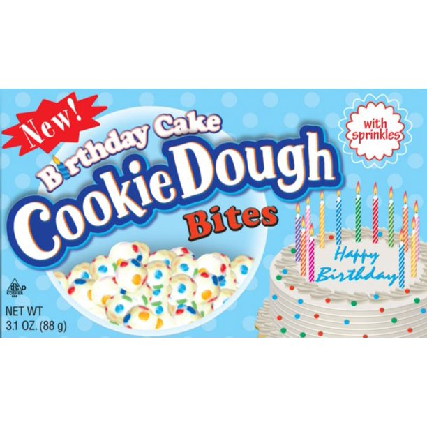 Enjoyable Cookie Dough Bites Birthday Cake 3 1 Oz 12 Ct Walmart Com Funny Birthday Cards Online Kookostrdamsfinfo