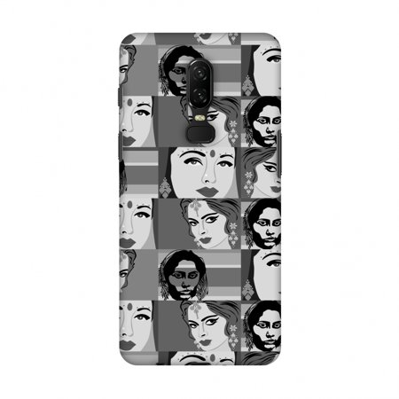 OnePlus 6 Case - Quirky Bollywood- Monochrome, Hard Plastic Back Cover, Slim Profile Cute Printed Designer Snap on Case with Screen Cleaning Kit