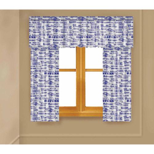 NFL Baltimore Ravens Window Curtain Panels