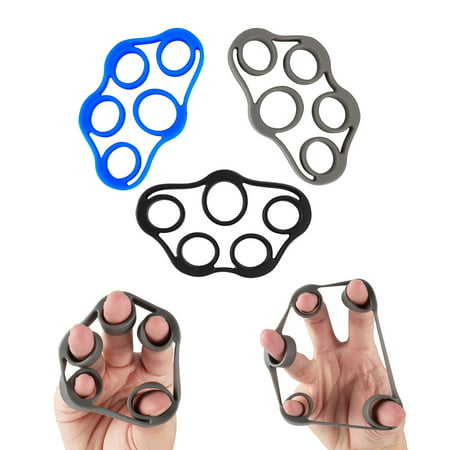 Finger Stretcher Hand Resistance Bands Hand Extensor Exerciser Finger Grip Strengthener Strength Trainer Gripper set for Arthritis Carpal Tunnel Exercise Guitar and Rock Climbing 3pcs