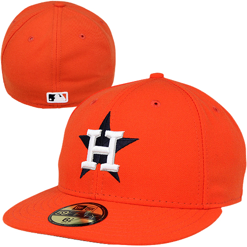 Houston Astros New Era Men's Alt Authentic Collection On-Field Performance 59FIFTY Fitted Hat - Orange