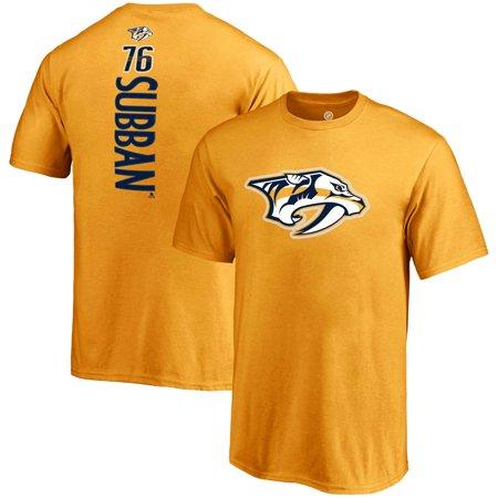 PK Subban Nashville Predators Fanatics Branded Youth Backer Name & Number T-Shirt - Gold