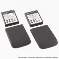 YN4L® 2 X 3500mAh Extended Batteries for HTC MyTouch 4G with Black Extended Back Cover