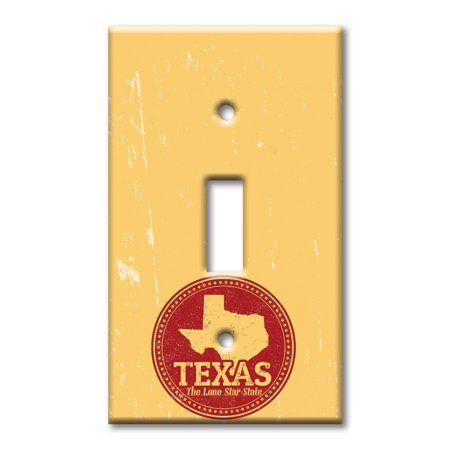 Single Gang Toggle OVERSIZE Wall Plate - Lone Star State (State Toggle)