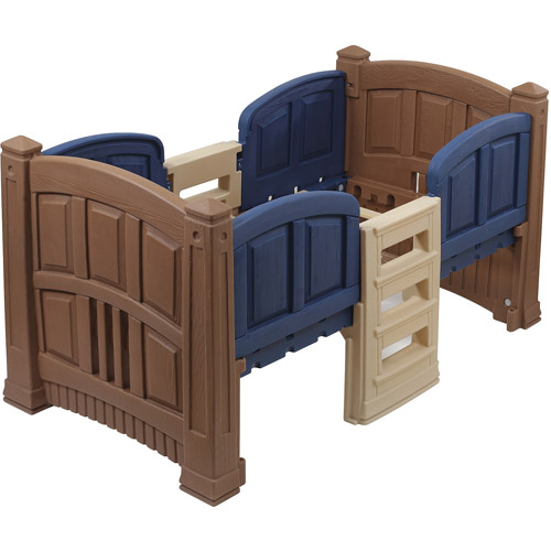 Step2 Toddler Storage Loft Bed, Twin, Blue & Brown