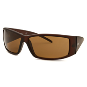 Kenneth Cole Men's Rectangle Sunglasses - Matte Brown