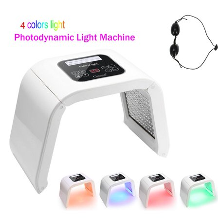 PDT 4Colors LED Light Photodynamic Facial Skin Care Rejuvenation Photon Therapy Machine Anti-Aging Whiten and Brighten Skin Beauty