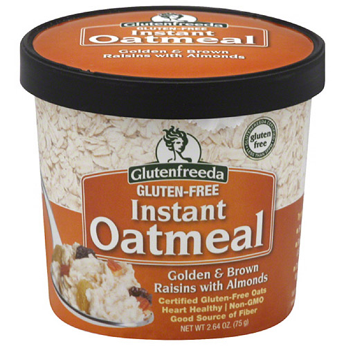 *****DISCONTINUED****Glutenfreeda Golden & Brown Raisins with Almonds Gluten Free Instant Oatmeal, 2.64 oz,(Pack of 12)