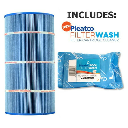 Pleatco Cartridge Filter PA90-M Hayward Star-Clear Plus C900 Sta-Rite PXC-95 (Antimicrobial) open w/molded gasket  CX900-RE 25230-0095S (Antimicrobial) w/ 1x Filter Wash (Hayward C900 Star Clear Filter)