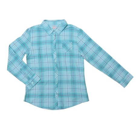 Faded Glory Girls Flannel Plaid Button Down Shirt