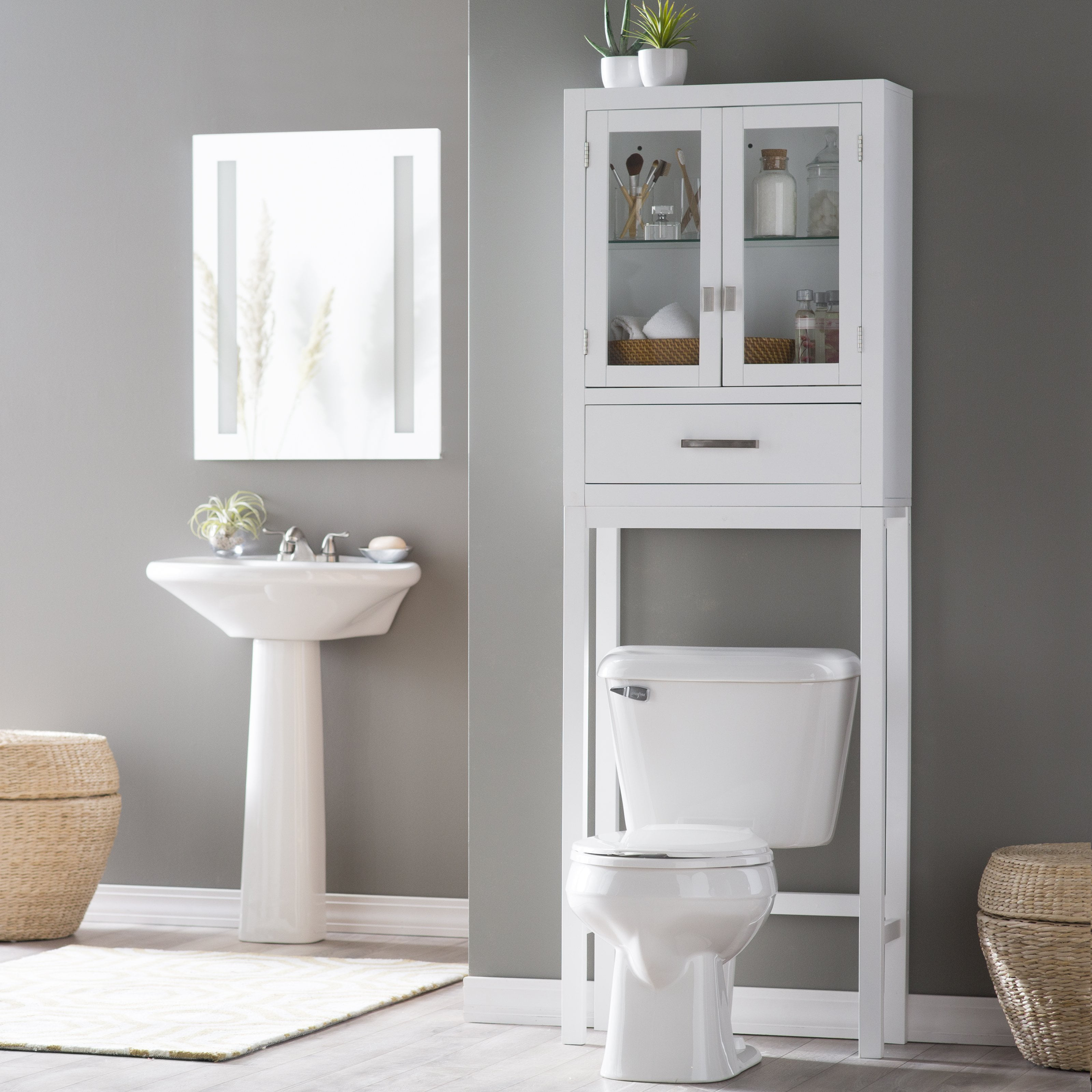 Belham Living Longbourn Over The Toilet Space Saver With Removable
