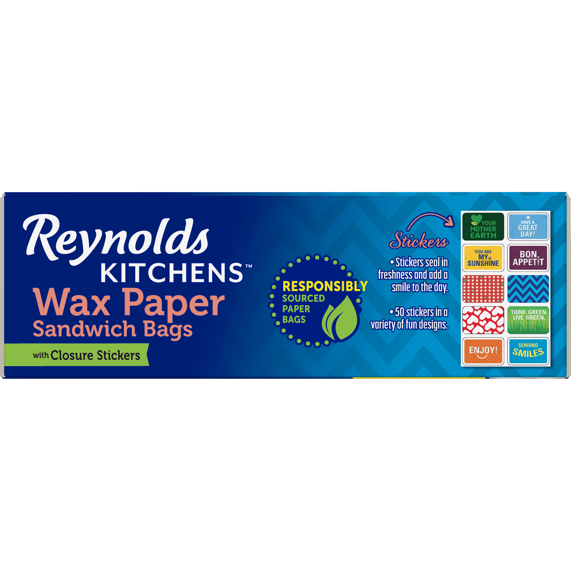 Reynolds Kitchens Wax Paper Sandwich Bags - Walmart.com